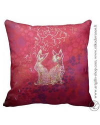 hand-painted-silk-pillow-love-romantic-couple-cats-red-19