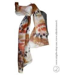 shibori-silk-scarf-hand-dyed-ghand-painted-silk-scarf-brown-black-dots-8