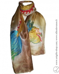 hand-painted-silk-scarf-dragon-brown-tapytas-silko-salikas-drakonas-ruda2