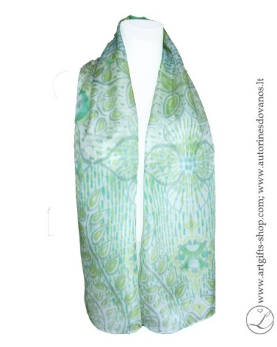 hand-painted-silk-scarf-blue-green-flower-hand-made-gifts-1