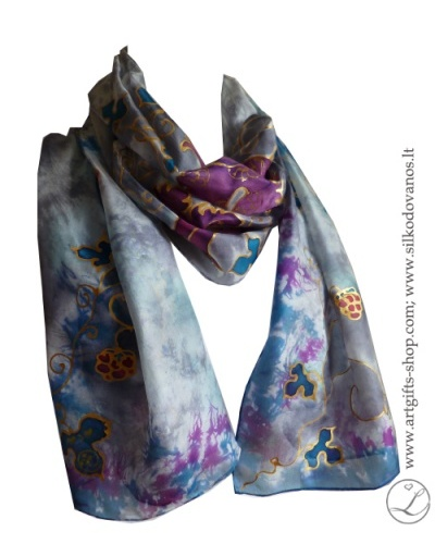 purple-grey-shibori-painted-flowers-silk-scarf